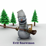 Click to see information about the 'Evil Snowman (for Poser)'.