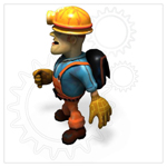 Cartoon Worker (for Poser)