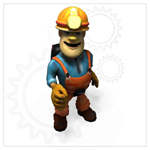 Click to see information about the 'Cartoon Worker (for Poser)'.