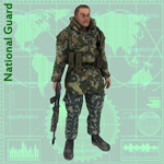 Click to see information about the 'National Guard Camo Suit (for Poser)'.