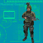 Click to see information about the 'National Guard Suit (for Poser)'.