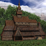 Stave Church (for Poser)
