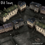 Click to see information about the 'Old Town Construction Kit (for Poser)'.