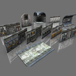 Click to see information about the 'Corridor Construction Kit (for Poser)'.