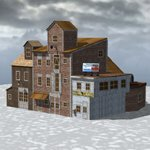Click to see information about the 'Wharf Building (for Poser)'.