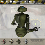 Harvey The Robot Droid (for Poser)