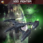 Voo Fighter Space Craft (for Poser)