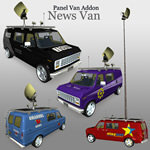 Click to see information about the 'Panel Van Addon- News Van (for Poser)'.