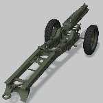 M1A1 75mm Pack Howitzer (for Poser)