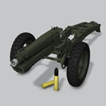 Click to see information about the 'M1A1 75mm Pack Howitzer (for Poser)'.