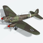 Click to see information about the 'Heinkel HE 111 H2 (for Poser)'.