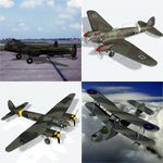 Click to see information about the 'Bomber Aircraft Pack 1 (for Poser)'.