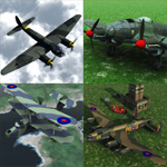 Click to see information about the 'Bomber Aircraft Pack 1 (for Vue)'.