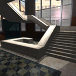 Architectural Staircase and Building (for Vue)