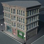 Old Style Building (for Vue)