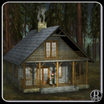 Rustic Cabin (for obj)