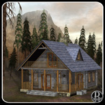 Click to see information about the 'Rustic Cabin (for obj)'.