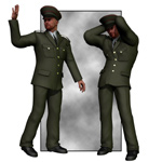 Dress Uniform (M4) (for Poser)