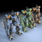 Sentinel Robot Mech (for fbx)