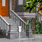 Brownstone Street Scene 1 (for Poser)