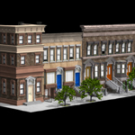 Click to see information about the 'Brownstone Street Scene 1 (for Poser)'.