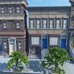 Brownstone Street Scene 1 (for Vue)