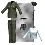 Dress Uniform (V4) (for Poser)