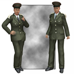 Click to see information about the 'Dress Uniform (V4) (for Poser)'.