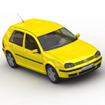 Volkswagen Golf Mk5 (for Wavefront OBJ)
