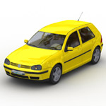 Click to see information about the 'Volkswagen Golf Mk5 (for Wavefront OBJ)'.