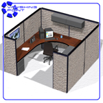Office Cubicle (for Poser)