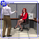 Click to see information about the 'Office Cubicle (for Poser)'.