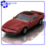 Click to see information about the 'Firebird Sports Car (for Poser)'.