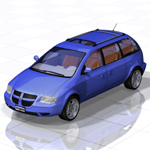 Click to see information about the 'Caravan Minivan (for Poser)'.