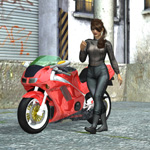 Urban Biker (Dawn) (for Poser)