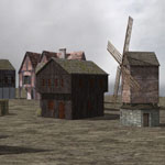 Click to see information about the 'Medieval Village (for Poser)'.