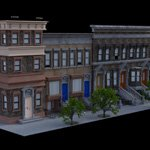 Brownstone Street Scene 1 (for DAZ Studio)