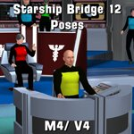 Starship Bridge 12 Poses (M4/ V4) (for Poser)