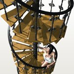 Click to see information about the 'P.I.C.K. Spiral Stairs (for Poser)'.