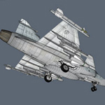 JAS 39 Gripen Jet (for Wavefront obj)