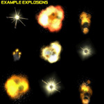 Space Explosions (PC) (for Poser)