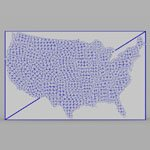 United States Continent (for Wavefront OBJ)