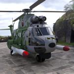 Click to see information about the 'Super Puma AS-332B Helicopter (for DAZ Studio)'.