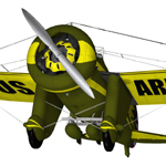 Boeing P-26A Peashooter (for Poser)