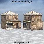 Shanty Town Buildings 2: Set 5 (for Poser)