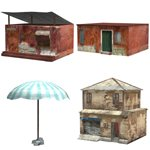 Click to see information about the 'Shanty Town Buildings 2: Set 5 (for Poser)'.