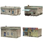 Click to see information about the 'Shanty Town Buildings 2: Set 6 (for Poser)'.
