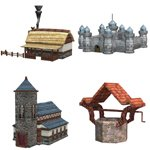 Cartoon World: Fantasy Buildings (for Poser)