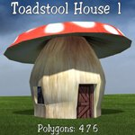 Cartoon World: Toadstool Buildings (for Poser)