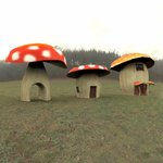 Click to see information about the 'Cartoon World: Toadstool Buildings (for Poser)'.